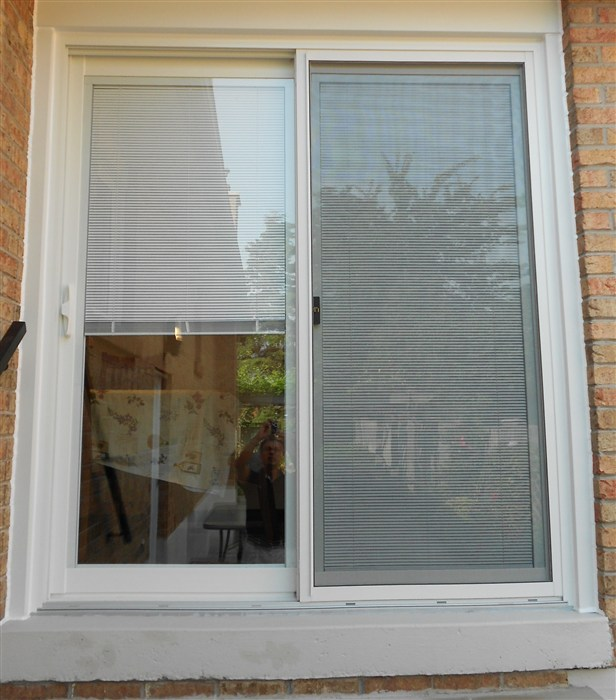 Mini Blinds Patio Door