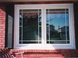 This Close Up Shows The Prairie Grill Style On A Pair Of Cat Windows