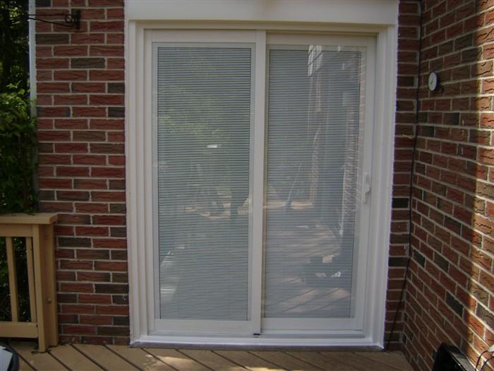 Venetion Internal Mini Blinds Patio Door
