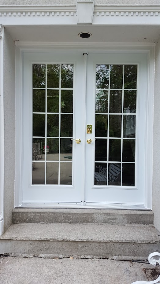 French doors garden doors mississauga french garden for Exterior window grill design